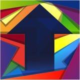Bunter quadratischer unbelegter Hintergrund Stockbild