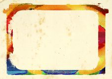 Bunter Rand Stockbild