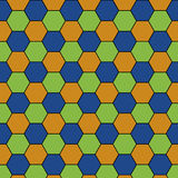 Bunter regelmäßiger Hexagon-Zusammenfassungs-Hintergrund Lizenzfreie Stockbilder