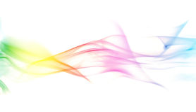 Bunter Regenbogen-Rauch Stockbild