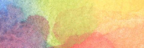 Bunter Regenbogenaquarellhintergrund - abstrakte Beschaffenheit Stockfotos