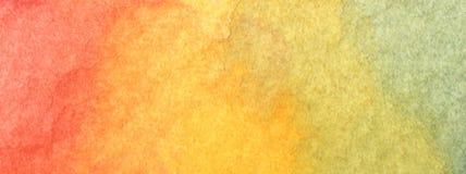 Bunter Regenbogenaquarellhintergrund - abstrakte Beschaffenheit Stockfotografie