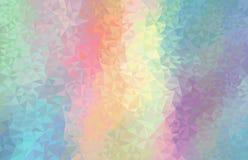 Bunter Regenbogenpolygonhintergrund Futuristische Dekoration der Vektorgeometrie lizenzfreie abbildung