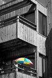 Bunter Regenschirm Stockbild