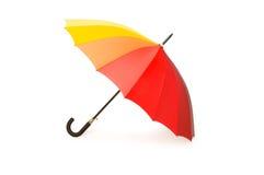 Bunter Regenschirm getrennt lizenzfreies stockbild