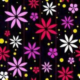 Bunter Retro- Blumen-Hintergrund Stockfotografie