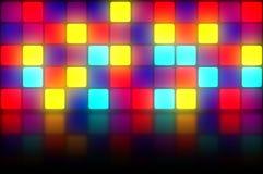 Bunter Retro- dancefloor Hintergrund Stockfotografie