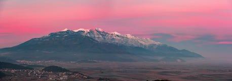 Bunter rosa Sonnenaufgang Stockbilder