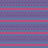 Bunter rosa Türkis gesponnener ethnischer geometrischer gestreifter nahtloser Vektormusterhintergrund für Gewebe, Tapete vektor abbildung