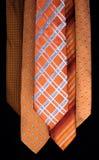 Bunter Satz Krawatten lizenzfreies stockfoto