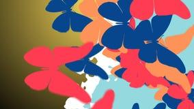 Bunter Schmetterlingsschwarm Stockfotos