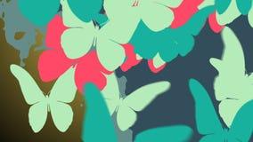 Bunter Schmetterlingsschwarm Lizenzfreie Stockfotos