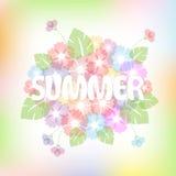 Bunter Sommerhintergrund mit Blumen vektor abbildung