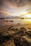 Bunter Sonnenaufgang stockbilder