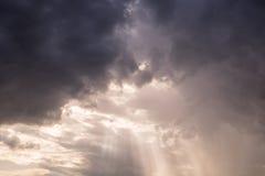 Bunter Sonnenstrahl der Wolke Lizenzfreies Stockbild