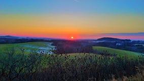 Bunter Sonnenuntergang stockfotos