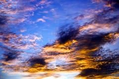 Bunter Sonnenuntergang Lizenzfreies Stockbild