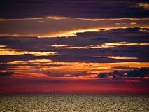 Bunter Sonnenuntergang Stockbilder