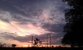 Bunter Sonnenuntergang Stockbild
