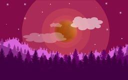 Bunter Sonnenuntergang auf einem einem anderen Planeten Lizenzfreie Stockfotos