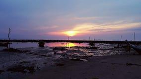Bunter Sonnenuntergang Thailand stockbilder