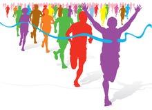 Bunter Spaß-Lack-Läufer Stockbild