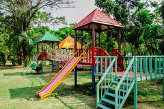 Bunter Spielplatz Lizenzfreies Stockbild