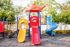Bunter Spielplatz Lizenzfreie Stockbilder