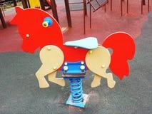 Bunter Spielplatz auf Yard Lizenzfreies Stockfoto