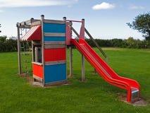 Bunter Spielplatz der modernen Auslegung Stockfotografie