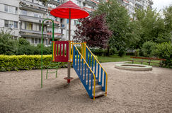 Bunter Spielplatz für Kinder Stockfotos