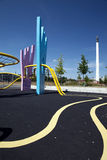 Bunter städtischer Spielplatzkopenhagen-Park Stockfotografie