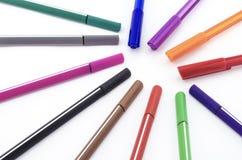 Bunter Stift lokalisiert auf Weiß Lizenzfreies Stockbild