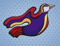 Bunter stilisierter Vogel, Stockfotografie