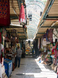 Bunter Straße Bazar in altem Jerusalem Stockfotos