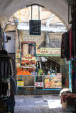 Bunter Straße Bazar in altem Jerusalem Lizenzfreies Stockbild