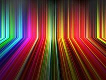 Bunter Streifenhintergrund der abstrakten Perspektive Stock Abbildung