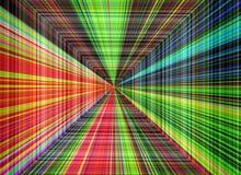 Bunter Streifenhintergrund der abstrakten Perspektive Vektor Abbildung