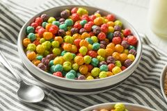 Bunter Sugar Breakfast Cereal Stockbilder