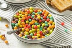 Bunter Sugar Breakfast Cereal Stockfotos