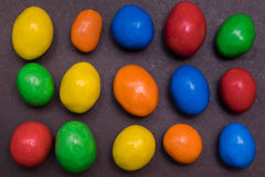 Bunter Sugar Coated Chocolate Stockfotografie