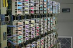 Bunter Telekommunikationsschalter Stockfotografie