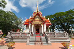 Bunter Tempel in Thailand Lizenzfreies Stockbild