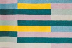 Bunter Teppich mit handgemachtem grafischem Muster lizenzfreies stockbild