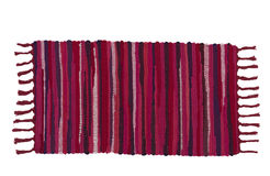Bunter Teppich oder Fußmatte Stockbild