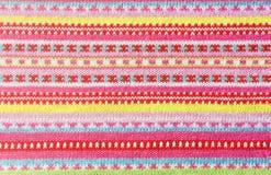Bunter Textilhintergrund Lizenzfreie Stockbilder