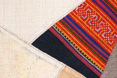 Bunter thailändischer peruanischer Artwolldecken-Oberflächenabschluß oben Mehr dieses Motivs u. mehr Gewebe in meinem Hafen tatte Stockbilder
