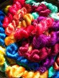 bunter thailändischer silk Thread Lizenzfreie Stockfotos