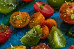 Bunter Tomatensalat Stockbild