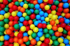 Bunter Toy Balls Ball Background Playground stockbilder